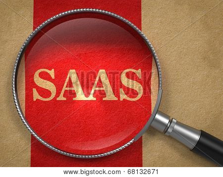 SAAS inscription Through a Magnifying Glass