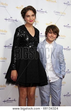 LOS ANGELES - JUL 8:  Bailey Madison, Max Charles at the Crown Media Networks July 2014 TCA Party at the Private Estate on July 8, 2014 in Beverly Hills, CA