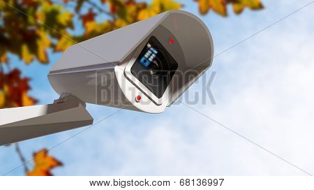 Surveillance Camera In The Daytime