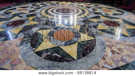 Marble Floor inside the Church of the Spilled Blood, St Petersburg