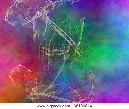 Rainbow Marble Abstract