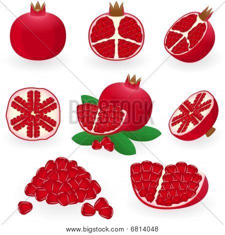 Icon Set Pomegranate