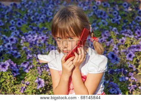 Kid talking on the phone