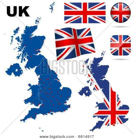 United Kingdom vector set