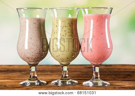 Healthy Diet, Protein Shakes And Fruits