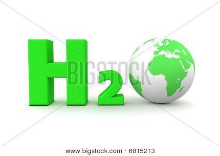 Global Hydrogen Oxide H2O - Green