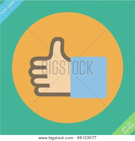 Like or thumbs up - vector illustration.