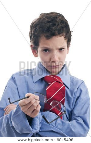 Little Businessman Angry
