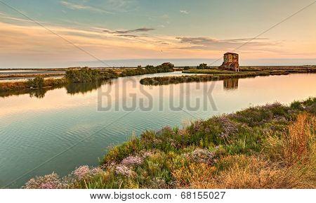 Lagoon Of Comacchio, Italy