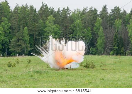 Explosion With Smoke