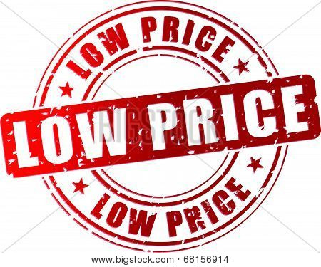 Vector Low Price Stamp