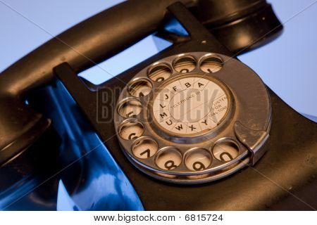 Black Retro Phone
