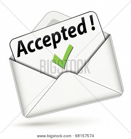 Vector Accepted Envelope Icon