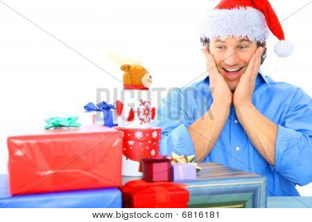 Adult Male Shocked With So Many Gift