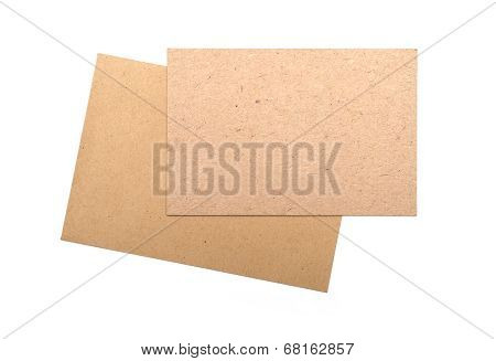 Brown Envelopes Cardboard Sheet Of Recycle Paper Gift Cards And Invitations Isolated On White Backgr