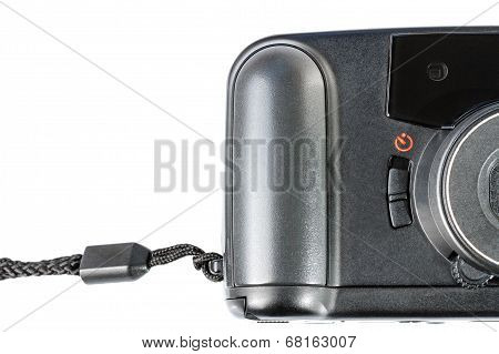 An Old Film Plastic Camera Isolated On White