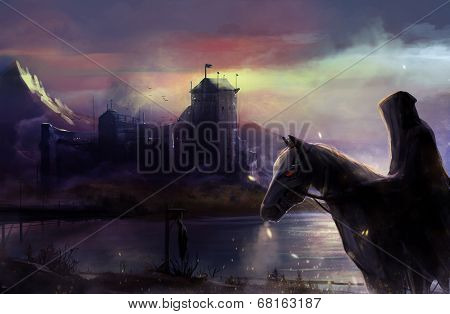 Black horseman castle