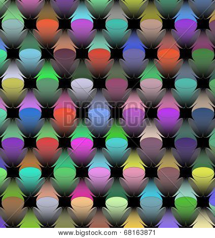 Vector background with colorful lights