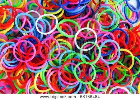 Colorful Background Rainbow Colors Rubber Bands Loom