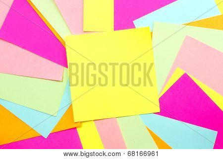 Colorful Post Note Background