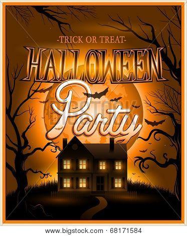 Happy Halloween Poster Vector illustration eps10