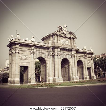 The famous Puerta de Alcala in Madrid, Spain