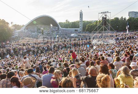 Crowd At Estonian National Song Festival In Tallinn