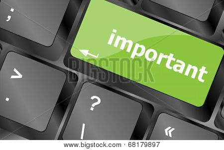 Important Button On Keyboard - Business Concept