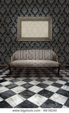 Classic Sofa On Marble Floor