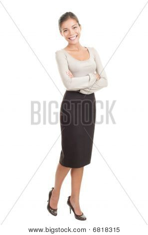Casual Young Asian Businesswoman