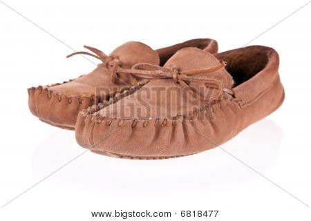 Pair of moccasin slippers