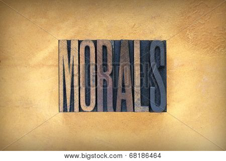 Morals Letterpress