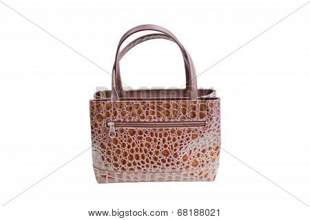 Womanish Brown Crocodile Leather Handbag