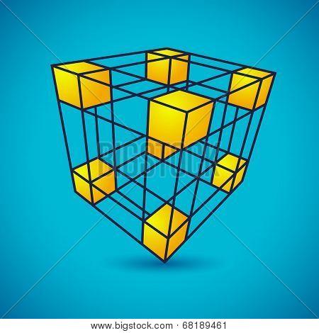 Vector grid cube