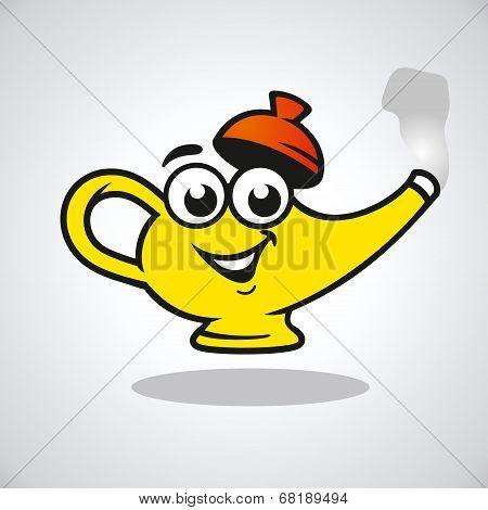 Vector teapot character