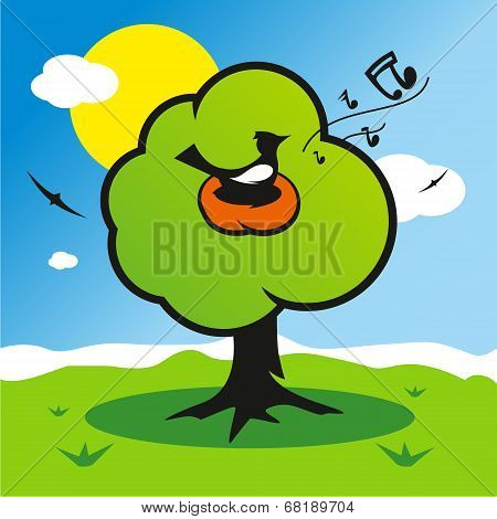 Vector Spring Illustration