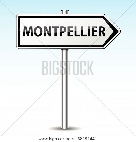 Vector Montpellier Directional Sign