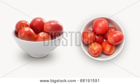 small tomatoes in a bowl