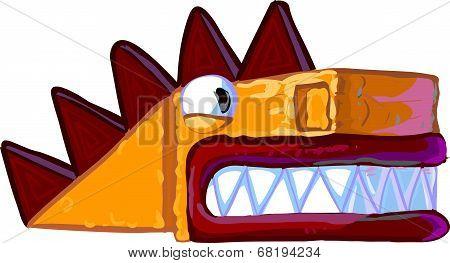 Cartoon Dragon Illustration