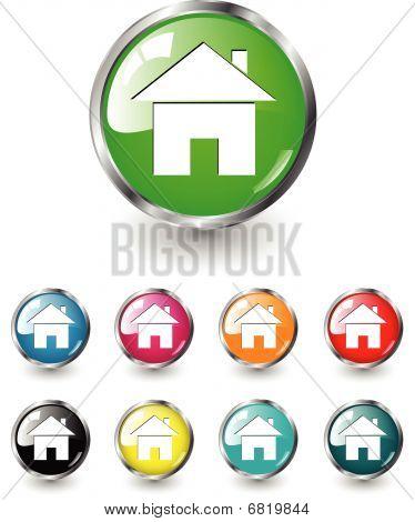 Home Symbol Vektor gesetzt