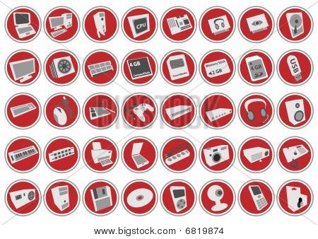 Computer Hardware Icon-set