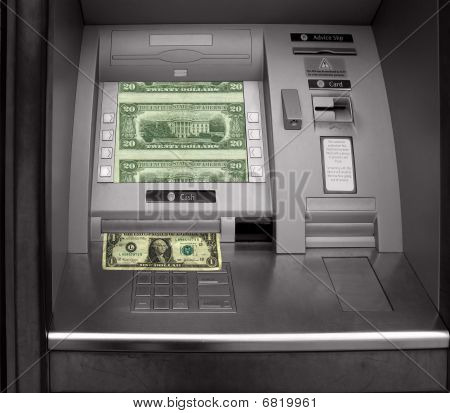 Cashpoint With Dollar Bill