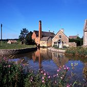 pic of slaughter  - Watermill on the River Eye Lower Slaughter Gloucestershire Cotswolds England UK Western Europe - JPG