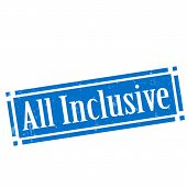 pic of all-inclusive  - Grunge rubber stamp with text All Inclusive - JPG