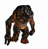 foto of creatures  - 3d render of a troll creature character - JPG