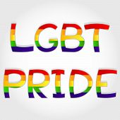 "stock photo of transgender  - ""LGBT (Lesbian, gay, bisexual and transgender) pride"" phrase stylized with rainbow. - JPG"