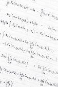 image of divergent  - Hand written study notes with equations for divergence of vector fields - JPG