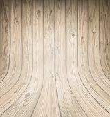 image of dingy  - Background of old natural wooden dark empty room with messy and grungy crack beech - JPG