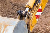 foto of hydraulics  - Excavator scoop  - JPG