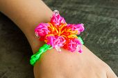 picture of loom  - Colorful Rainbow loom bracelet rubber bands fashion - JPG